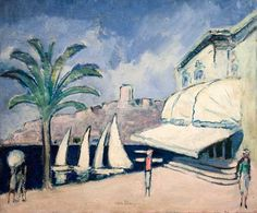 Hiver a Cannes by Kees Van Dongen (Dutch Ernst Ludwig Kirchner, Cannes, Art Eras, Georges Braque, Dutch Painters, Post Impressionism, Modern Artists, French Art, Brigitte Bardot