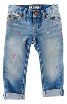 Peek 'Maya - Paint' Skinny Jeans (Baby Girls)