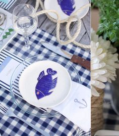 Tablescape  A Nautical Supper