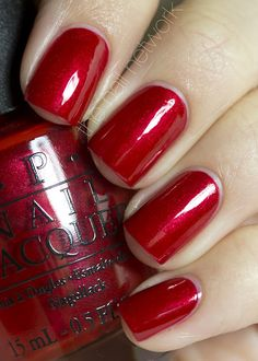 I need this color ASAP. OPI - Danke Shiny Red