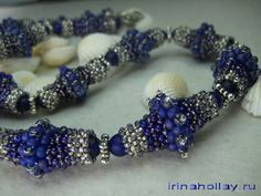 Beaded bead Necklace Free pattern