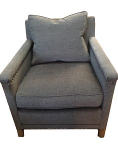 "Gray Club Chair. JAYSON HOME ""CLINTON"" CHAIR"
