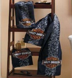 Marvelous Best Choice For Having Harley Accessories At Your Bathroom: Harley Davidson  Towel Set U2013 QdDown