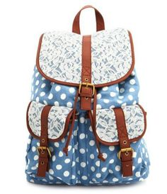 #Polka dot and lace backpack  Purses #2dayslook #Purses #anoukblokker #kelly751  www.2dayslook.com