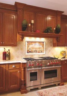 Snell Kitchen 3 - mediterranean - kitchen - dc metro - Cameo Kitchens, Inc. New Kitchen, Kitchen Decor, Kitchen Ideas, Kitchen Designs, Kitchen Backsplash, Kitchen Vent, Kitchen Yellow, Kitchen Hoods, Kitchen Inspiration