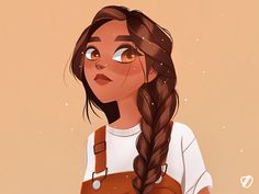 🌾 designed by vklmpt. Connect with them on Dribbble; the global community for designers and creative professionals. Cute Cartoon Drawings, Cartoon Art Styles, Cute Art Styles, Cartoon Girl Drawing, Disney Drawings, Girl Cartoon, Cute Drawings Of Girls, Girl Drawing Sketches, Cute Girl Drawing
