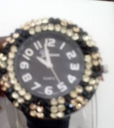 Check out this item in my Etsy shop https://www.etsy.com/listing/201682545/fashion-watch-onyx-watch-rhinestone
