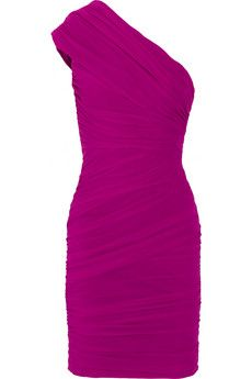 Love the color and the one shoulder