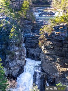 Catch gorgeous views of lower Linville Falls tumbling into Linville Gorge in winter