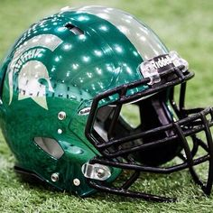 feaadc84c3 Green HydroChrome helmets that MSU Football wore vs.