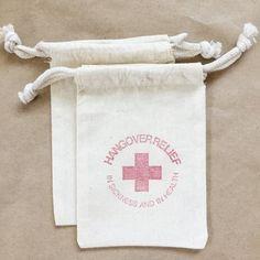 Hangover Kit Bag Recovery Bag Kit Hangover by PaperArtScissors