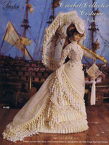 Paradise Crochet Barbie Size Fashion Doll Pattern 1883 Lady by The Sea Volume 92 | eBay