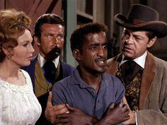 *m. Still of Robert Conrad, Sammy Davis Jr., Hazel Court and Ross Martin in The Wild Wild West (1965)