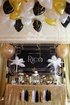 There are many Gatsby Party Ideas that you can try on our current articles, check this out. So if you're prepared to party this up, Gatsby-style 30th Birthday Parties, Birthday Party Themes, 50th Birthday, Birthday Ideas, Christmas Birthday, Themed Parties, Great Gatsby Motto, Great Gatsby Themed Party, Roaring 20s Party