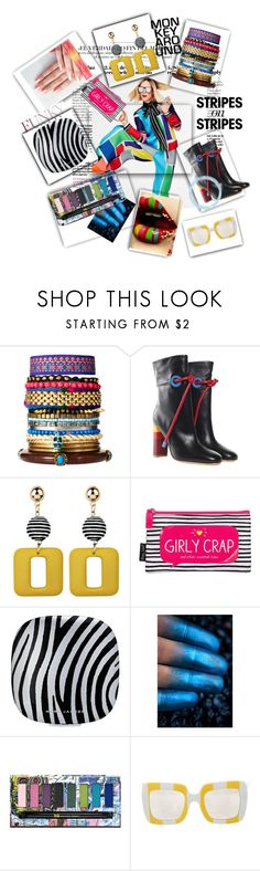 """Striped Building Blocks To Fun! 💈"" by mavinex-de-nova ❤ liked on Polyvore featuring River Island, Malone Souliers, Happy Jackson, Marc Jacobs, Urban Decay, Dolce&Gabbana, stripesonstripes and PatternChallenge"