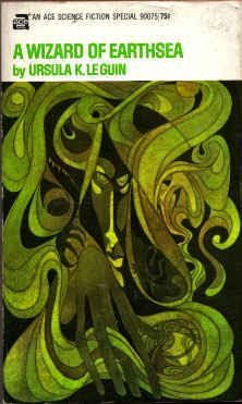 A Wizard of Earthsea, Ursula K. Le Guin, 1970, cover by Leo and Diane Dillon