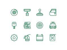 Dribbble - auto icons by Kemal Şanlı