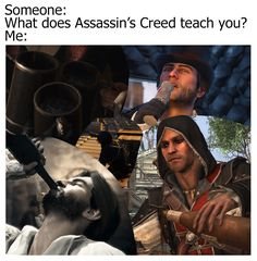 Eddie the drunken pirate. Assassins Creed Jacob, Assassins Creed Memes, Assassins Creed Black Flag, Assassins Creed Odyssey, Satire, Assassian Creed, Assasins Cred, Assassin's Creed Black, Funny Memes