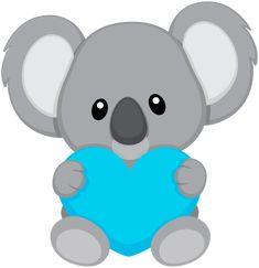 "Photo from album ""koalas"" on - Baby Animals, Cute Animals, Baby Giraffes, Wild Animals, Cute Clipart, Rock Art, Cute Drawings, Painted Rocks, Hello Kitty"