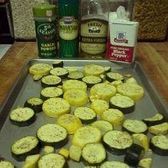 baked squash & zuchinni