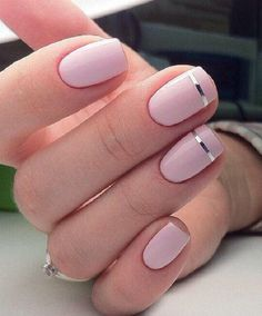 You can draw a silver line with a nail polish in that color or special stickers for this purpose.