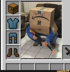 See more 'Minecraft Armor Parodies' images on Know Your Meme! Really Funny Memes, Stupid Funny Memes, Haha Funny, Hilarious, Rasengan Vs Chidori, Minecraft Funny, Best Memes Ever, Cursed Images, Gaming Memes