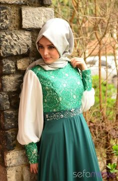 Sefamerve Abiye Elbiseler PDY 3243Y-08 Yeşil
