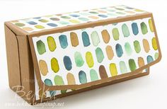 How to Make a Box an attached Lid using the Gift Bag Punch Board from Stampin' Up! UK