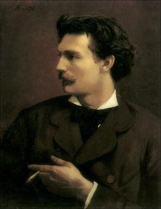 1875 Selfportrait ~ Anselm Feuerbach ~ (1829–1880)