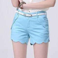 Scalloped-Trim Shorts