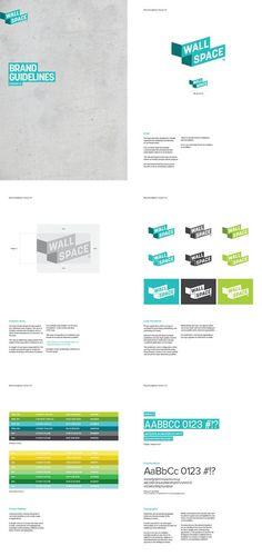 Wallspace brand identity | Identity | Pinterest