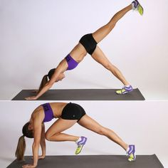 Dead Bug Exercise & Downward Dog Leg Pull - Beauty & Fitness with Harry Marry Fitness Workouts, Easy Workouts, At Home Workouts, Pilates Fitness, Cardio Gym, Dead Bug Exercise, Fitness Studio Training, 30 Day Ab Challenge, 30 Day Abs