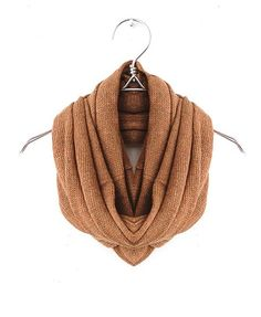 knit snood in coffee