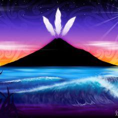 'Taranaki te Maunga' Canvas Print by Revolution Aotearoa Maori Symbols, Maori Designs, Nz Art, Maori Art, Kiwiana, Feather Art, Art Pages, Tribal Art, Canvas Art Prints