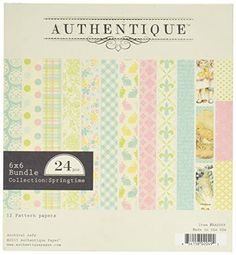 Authentique Paper EAS009 Bundle DoubleSided Cardstock Pad 24 Pack 6 x 6 Springtime Assorted -- Read more reviews of the product by visiting the link on the image.Note:It is affiliate link to Amazon.