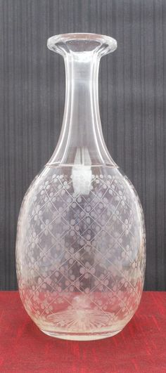 Etched Glass Decanter | eBay