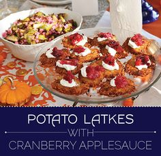 potato latkes with cranberry applesauce --> How To Celebrate Thanksgivukkah, The Best Holiday Of All Time