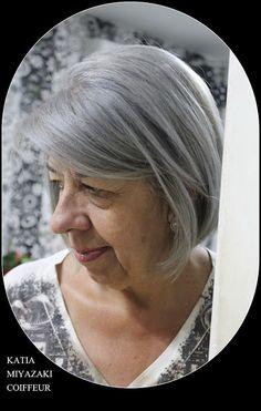 Katia Miyazaki Coiffeur - Salão de Beleza em Floripa: cabelo platinado -  silver - cabelo cinza  - corte...