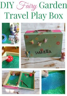How to make a DIY Fairy Garden Travel Box. Use this easy tutorial to make a fun, homemade gift for girls that promotes creative play on the go.