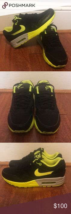 the latest b39da a1935 Volt and Black Nike Airmax 1 s Volt and Black Nike Airmax 1 s  LIMITED  Nike