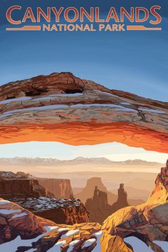 Canyonlands National Park, Utah - Arch - Lantern Press Poster