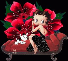 Betty+Boop+Black+Girl | ... /s1600/betty_boop_with_pudgy_black_dress_red_flowers_glitter.gif