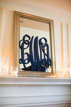 navy monogram | Robyn Van Dyke #wedding