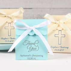Personalized Scalloped Religious Favor Box by Beau-coup