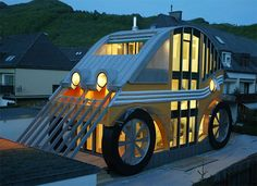 Unique and Modern House  ~ A Car Shaped Home In Germany.....wow would like to see that house!