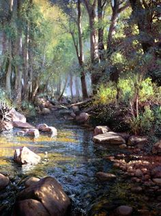 Discover Michael Godfrey's art and his passion for capturing the grandeur of God's creation in his award-winning landscape paintings that span all seasons Watercolor Trees, Watercolor Landscape, Landscape Art, Landscape Paintings, Watercolor Paintings, Watercolors, Paintings I Love, Beautiful Paintings, Beautiful Landscapes