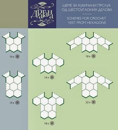 Entre um Fio e Outro: Blusas Crochê (schemes to build clothing from a variety of motifs... Very useful post)