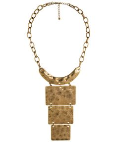 Cleopatra - Dimpled Geo Necklace - Forever21 - $8.80
