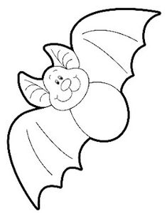 A cute bat for Halloween to color, to draw, to use as a template. A cute bat for Halloween to color, to draw, to use as a template. Dulceros Halloween, Moldes Halloween, Mascaras Halloween, Adornos Halloween, Manualidades Halloween, Halloween Crafts For Kids, Halloween Themes, Halloween Decorations, Halloween Drawings