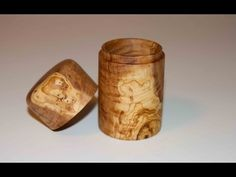Wood Turning Olive Wood Box - YouTube